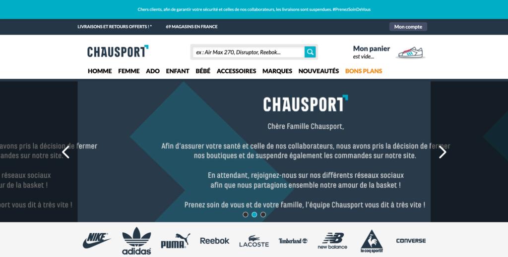Chausport communiqué Covid-19